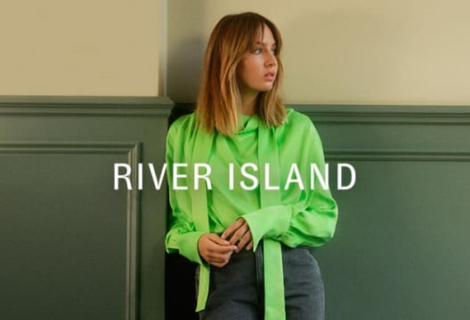 Save 15% + Free Delivery at River Island When You Spend Over £65 on Your First Order