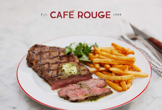 Don't Miss 25% Discount on Food Monday to Thursday with Cafe Rouge