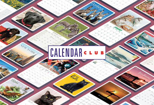 Head to Calendar Club for an up to 50% Saving on Orders in the Mid-Season Sale