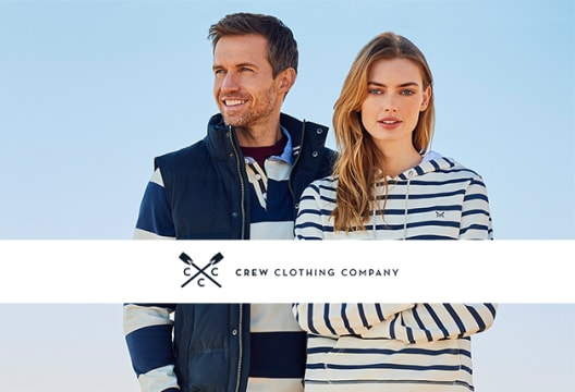 Welcome Discount - 20% Off and Free Delivery at Crew Clothing
